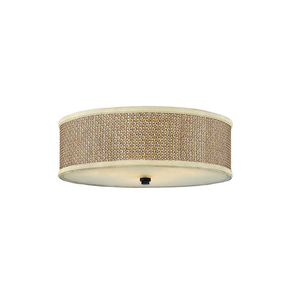 Filament Design Monroe 2 Lumière poli Vanity halogène Chrome avec une gravé ombre d'Opale