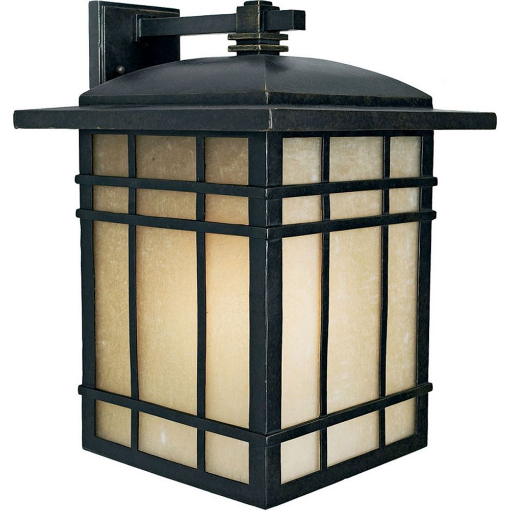 Filament Design Monroe 1 Lumière Imperial Bronze Outdoor Compact Fluorescent Lanterne murale