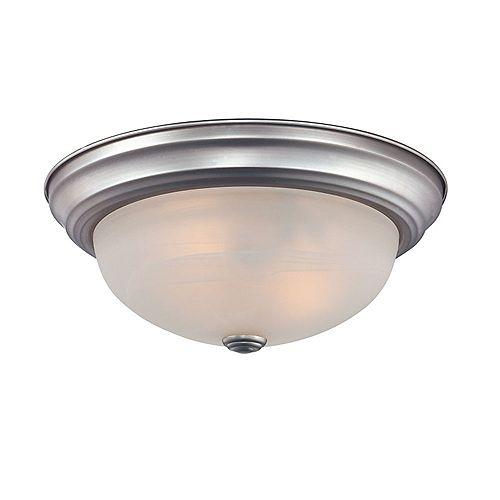 Monroe 3 Lumière Chrome poli Incandescent encastré avec une gravé ombre d'Opale