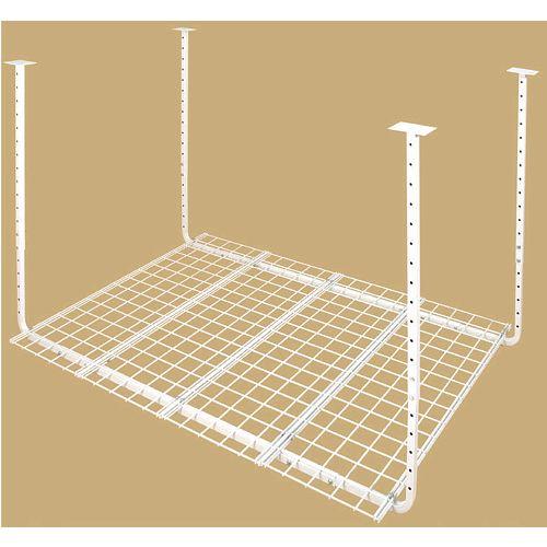 60-inch W x 45-inch D Adjustable Height Garage Ceiling Storage Unit