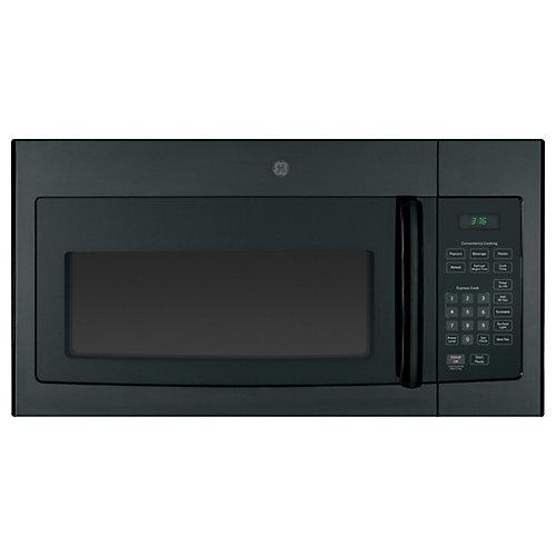 GE Four à micro-ondes à hotte intégrée de 1,6 pi3 Noir