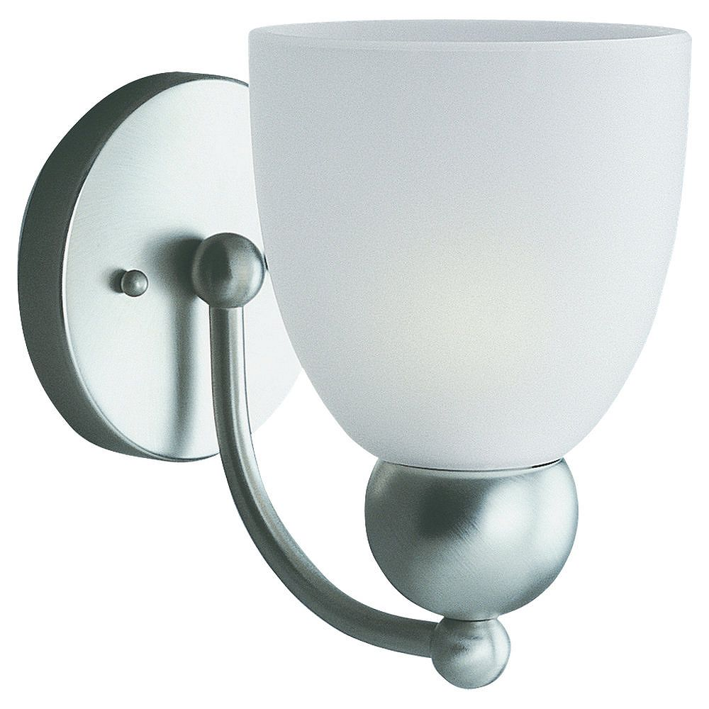 Sea Gull Lighting 1 Light Brushed Nickel Incandescent Bathroom Vanity