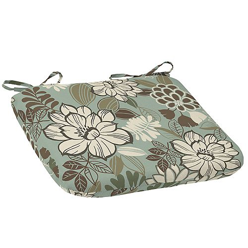 Outdoor Seat Pad in Claire Seafoam