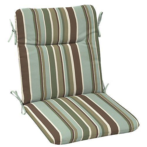 Outdoor Chair Cushion in Campina Stripe Seafoam