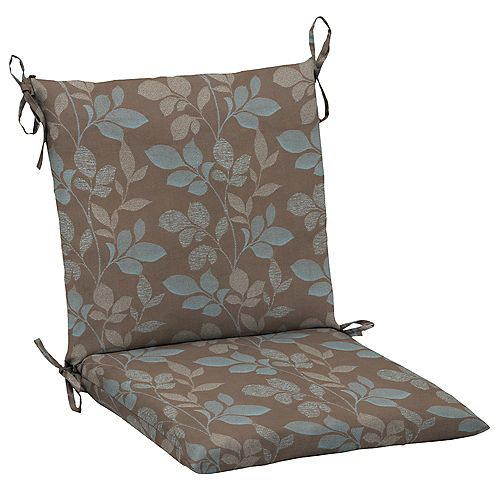 Outdoor Mid Back Chair Cushion in Blush Botanical