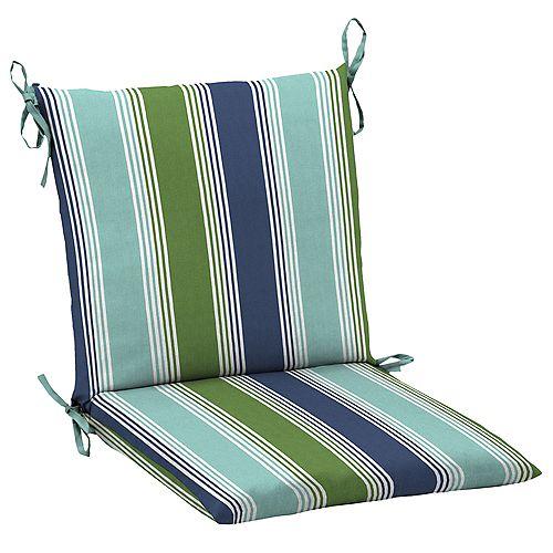 Outdoor Mid Back Chair Cushion in Dawson Stripe Marine