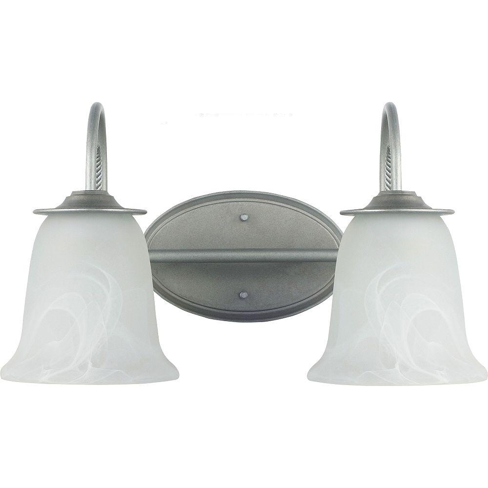 Sea Gull Lighting 2-Light Weathered Pewter Bathroom Vanity
