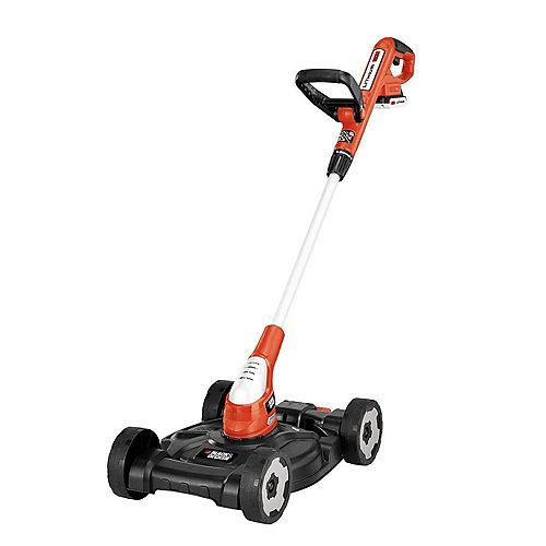 BLACK+DECKER 12-inch 20V MAX Lithium-Ion Cordless 3-in-1 String Trimmer/Edger/Mower with (2) 2.0Ah Batteries and Charger Included