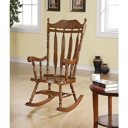 Solid Wood Rocking Chair in Walnut