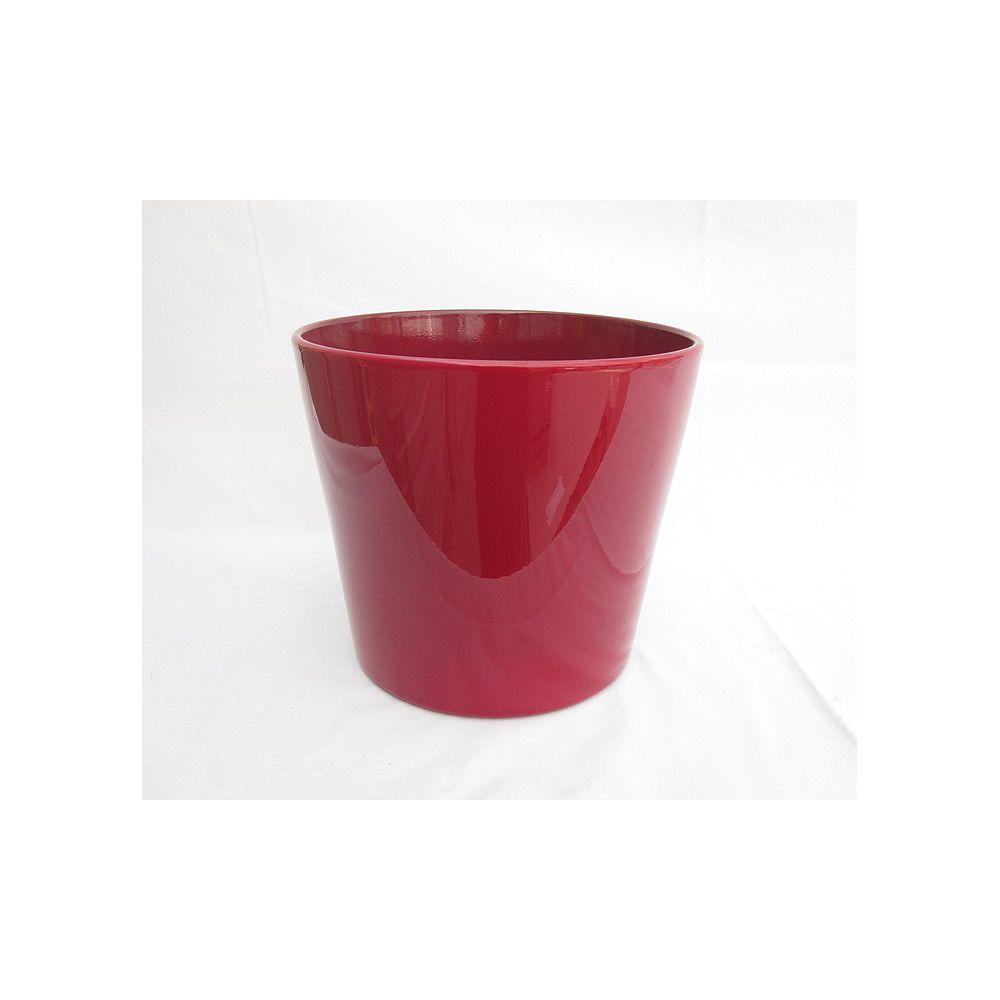 Foliera Pot Ceramique Rouge Rond 10 Po