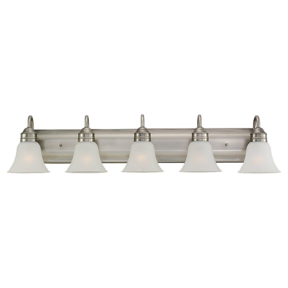 Sea Gull Lighting 5-Light Antique Brushed Nickel Bathroom Vanity