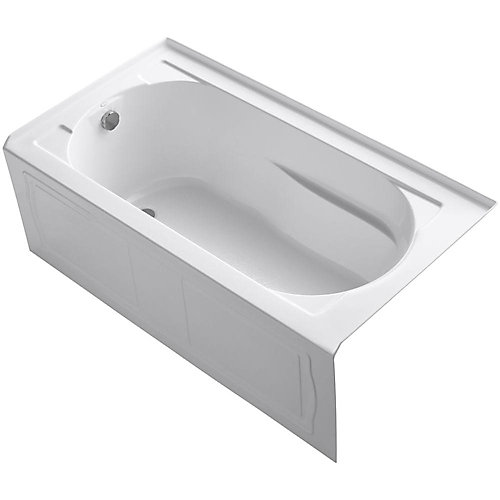 "Devonshire(R) 60"" x 32"" alcove bath with integral apron, integral flange and left-hand drain"