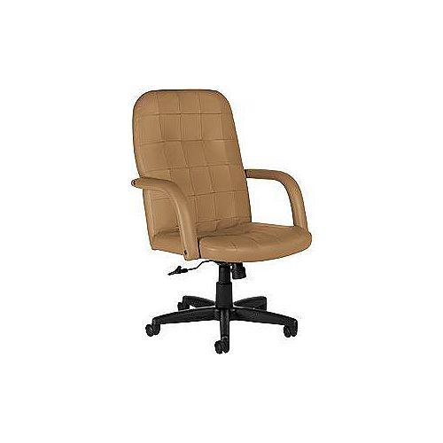 Mid Back Executive Leather Tilter - Chamois