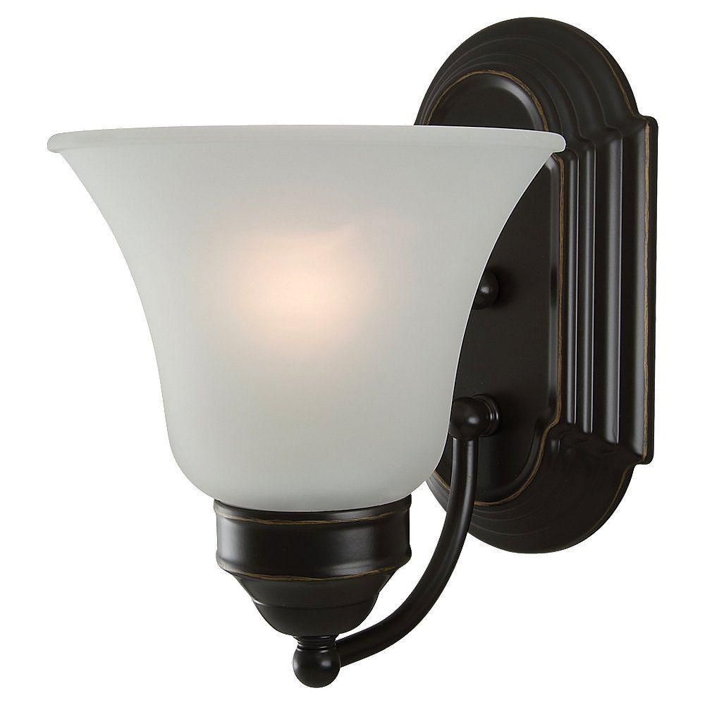 Sea Gull Lighting 1 Light Heirloom Bronze Incandescent Bathroom Vanity