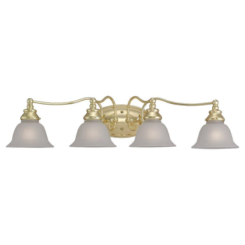 Sea Gull Lighting 4 Light Polished Brass Incandescent Bathroom Vanity