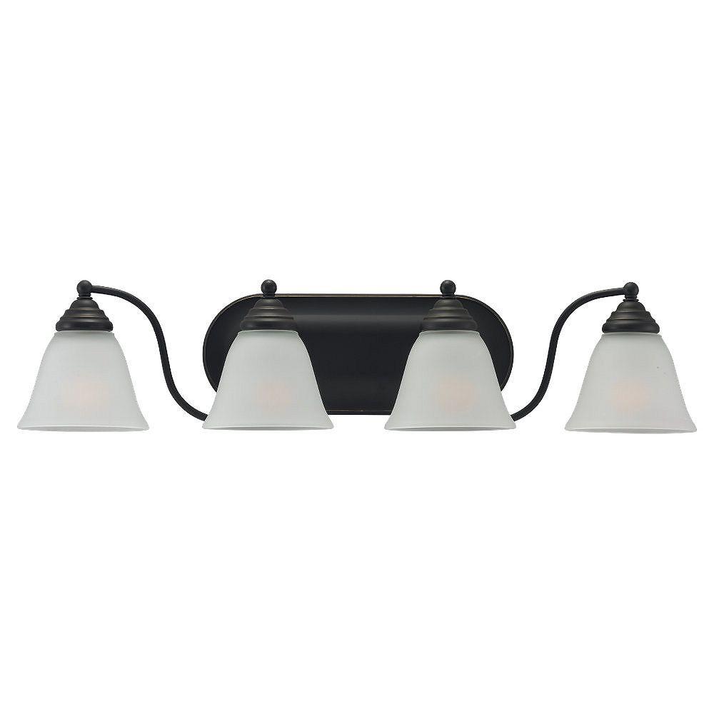 Sea Gull Lighting 4-Light Heirloom Bronze Bathroom Vanity