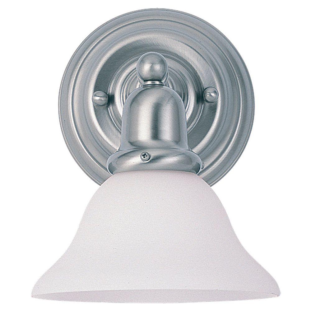 Sea Gull Lighting 1 Light Brushed Nickel Fluorescent Bathroom Vanity