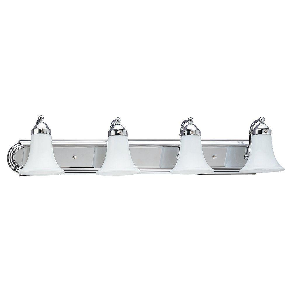 Sea Gull Lighting 4 Light Chrome Incandescent Bathroom Vanity