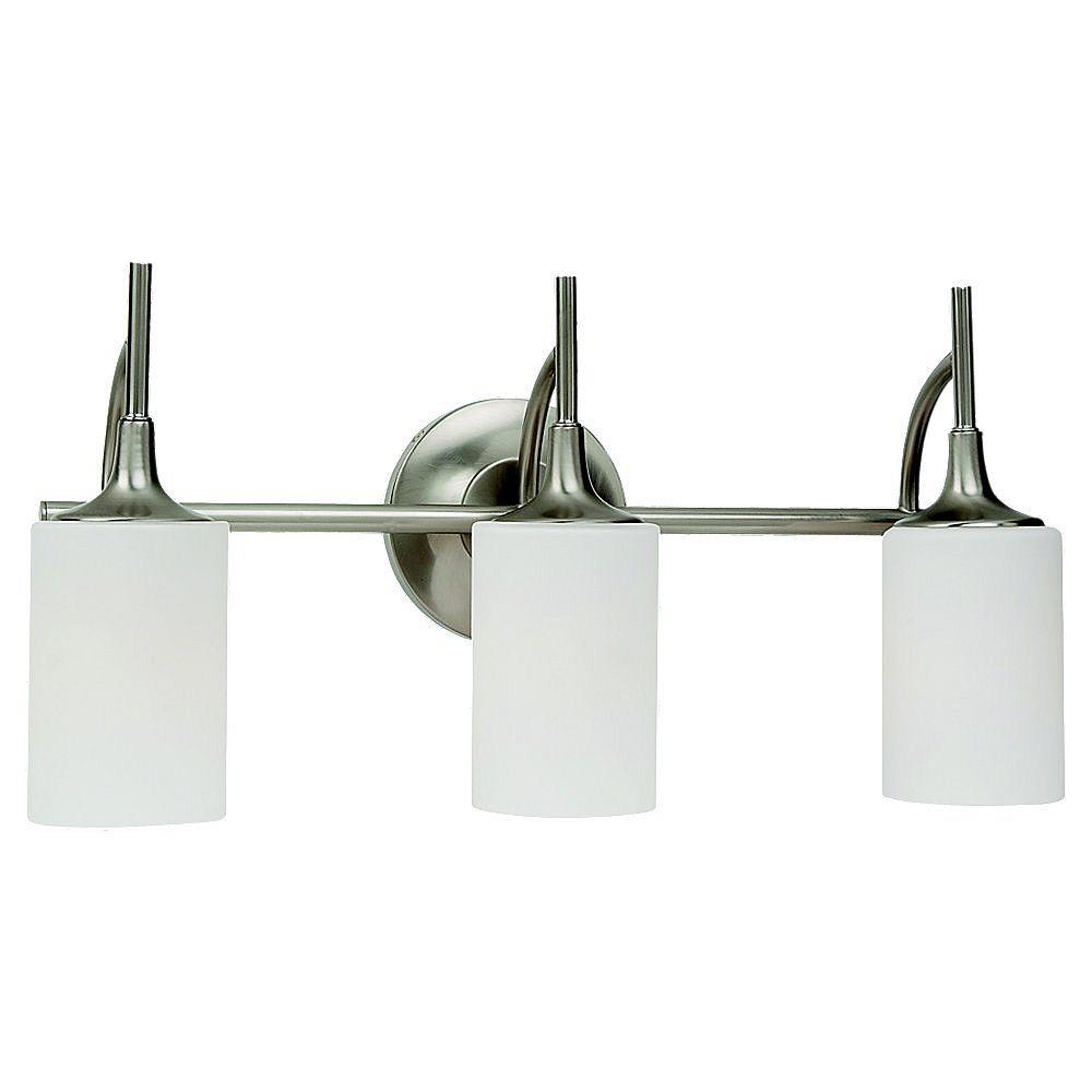 Sea Gull Lighting 3-Light Brushed Nickel Bathroom Vanity