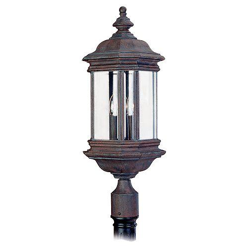 Lumière Seagull fixée au mur à trois ampoules avec abat-jour clair, finition de spécialité