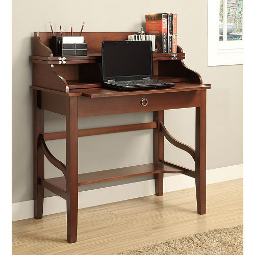Cherry Transitional Lap Top Desk with Lift Top & Pull-out Tray