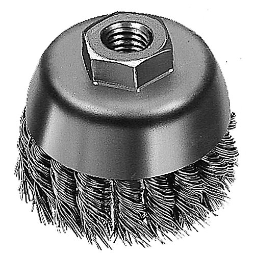 3-inch Hyperwire Knot Wire Cup Brush in Carbon Steel