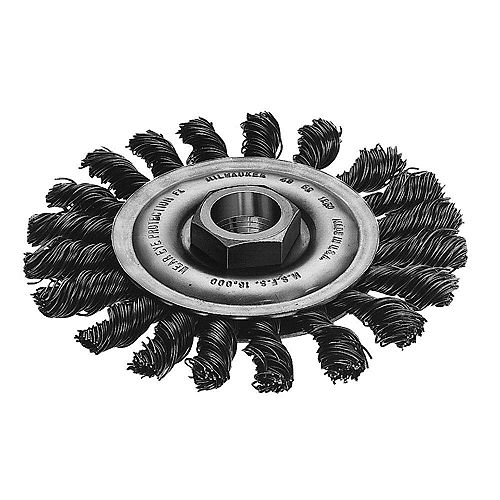 4-inch Full Cable Twist Knot Wheel in Stainless Steel