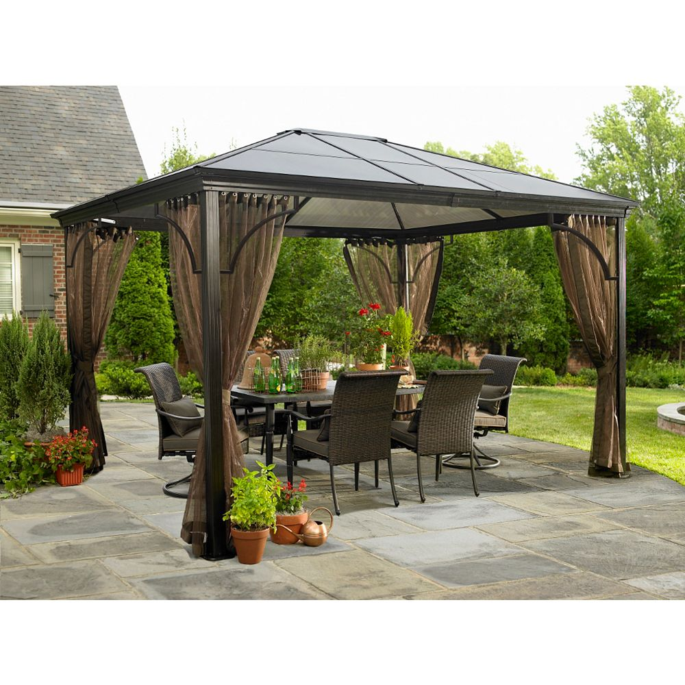 Sojag Venetia 10 ft. x 12 ft. Sun Shelter with Mosquito Net