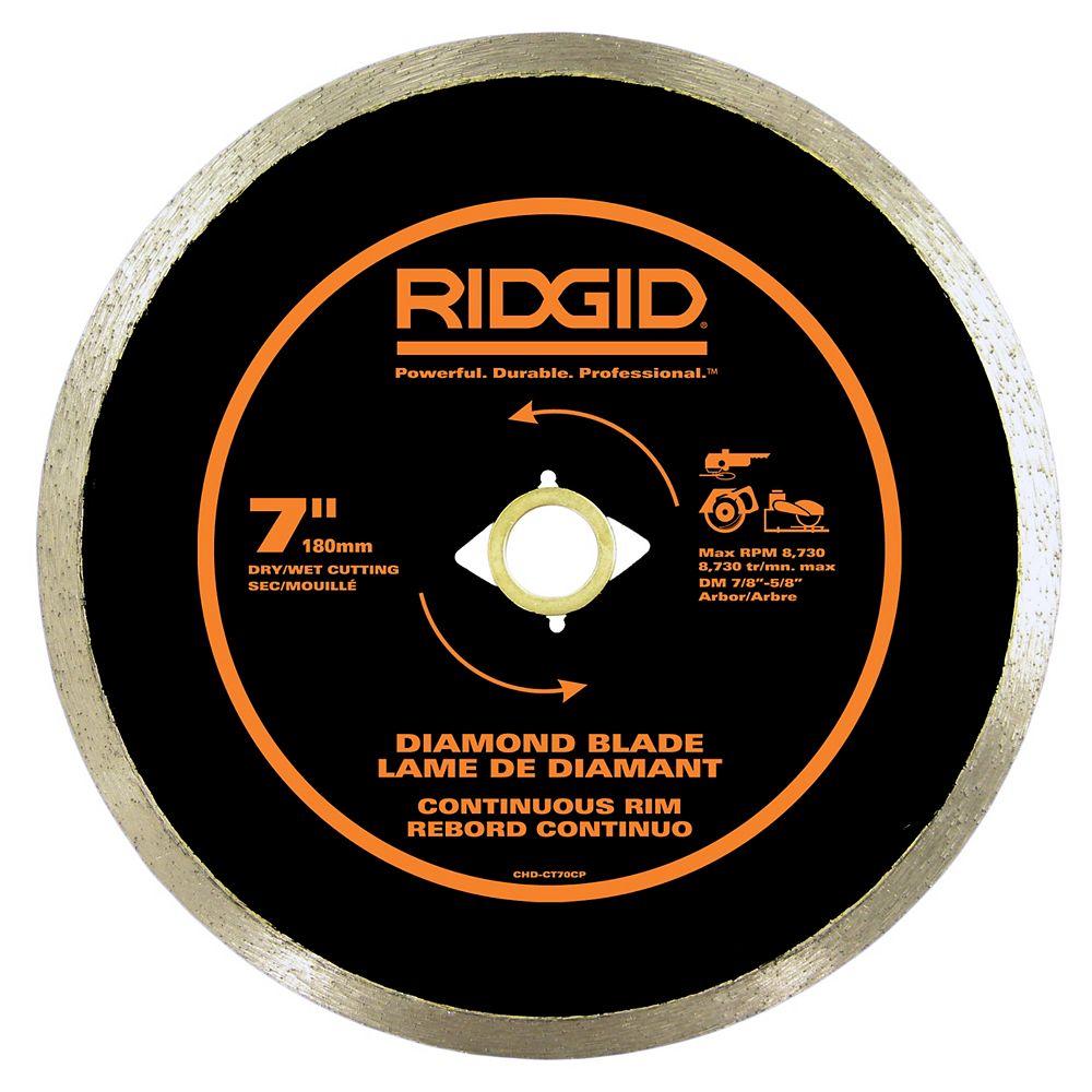 RIDGID 180mm Rebord Continu Lame de Diamant