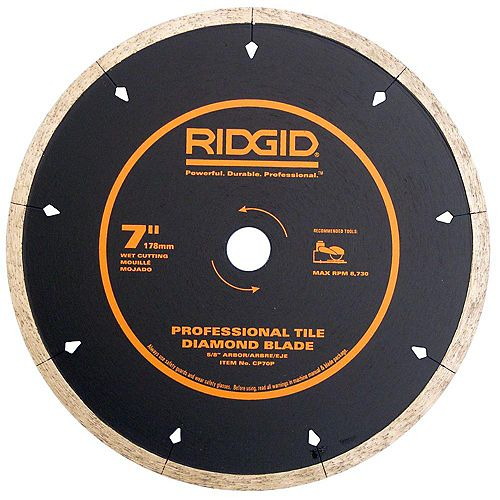 7 Inch Porcelain Diamond Blade