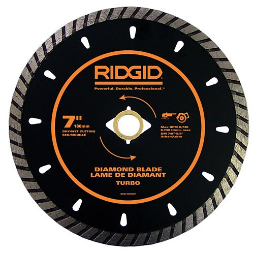 7 Inch Turbo Diamond Blade