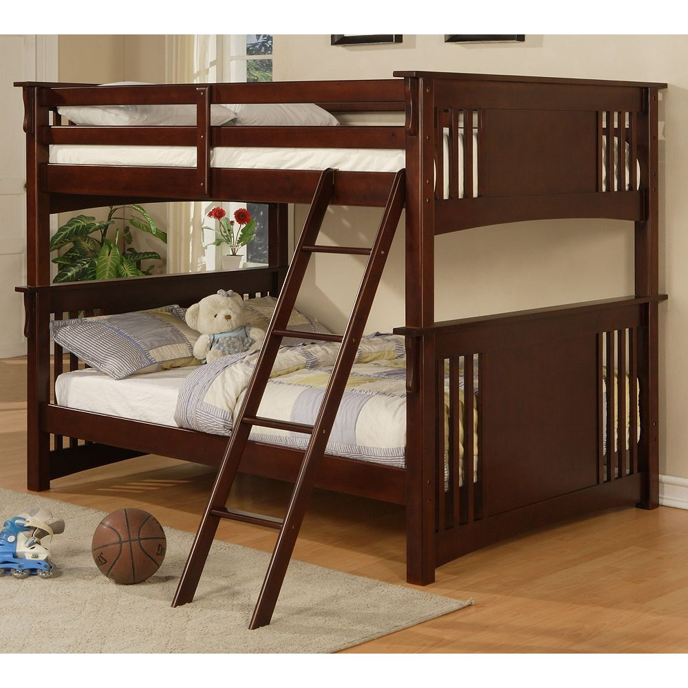 Worldwide Homefurnishings Inc Stratford Double Over Double Bunk The Home Depot Canada