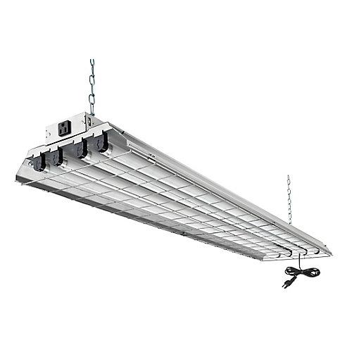 4 ft. 32 W 4-Light T8 Grid Shop Light