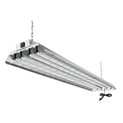 4 ft. 32 W 4-Light T8 Grid Shop Light
