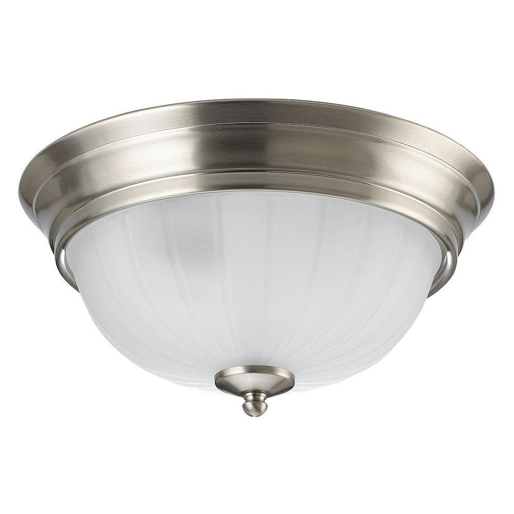 Sea Gull Lighting 2 Light Brushed Nickel Fluorescent Ceiling Fixture
