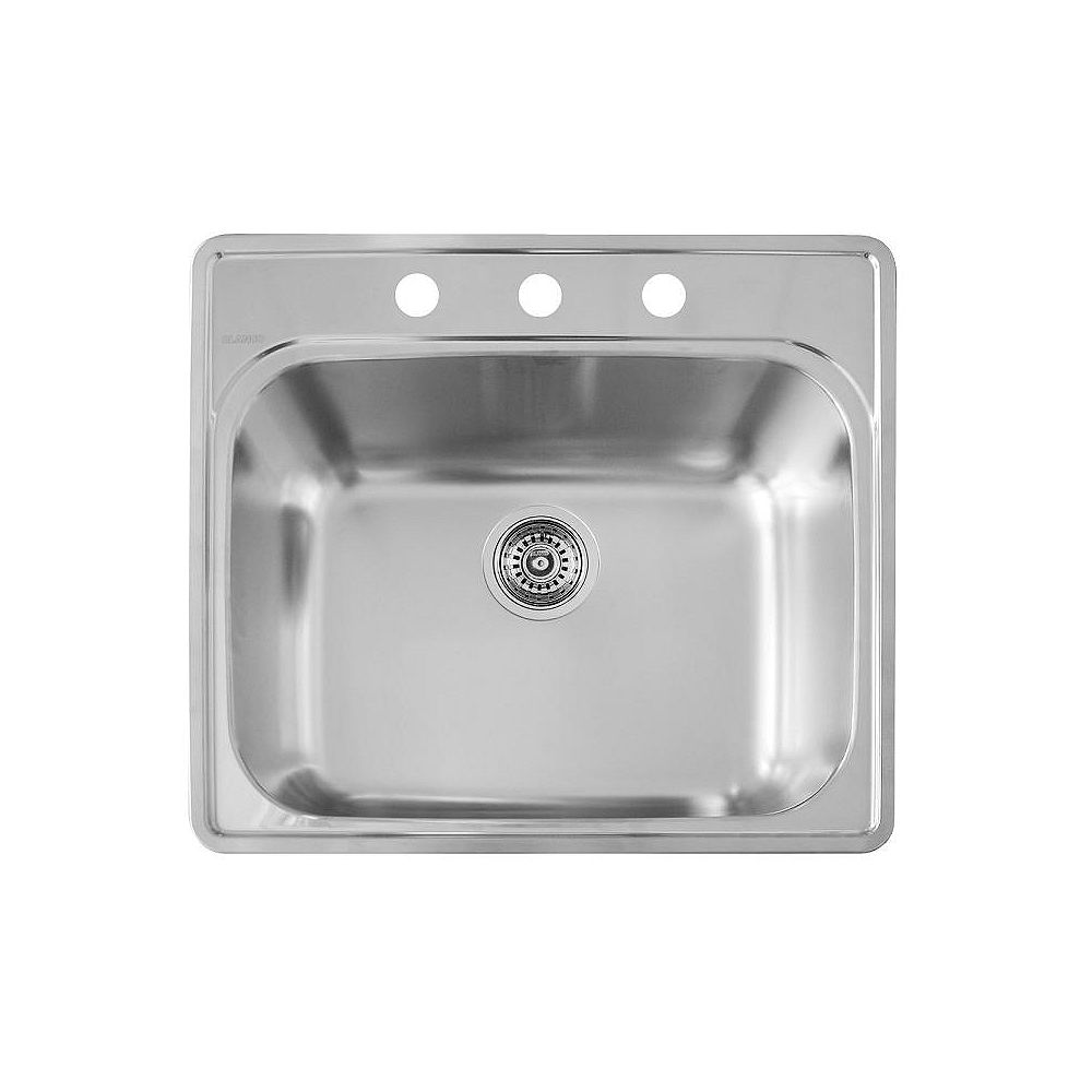 Blanco Stainless Steel top mount Laundry Sink, Single Bowl, 3-Hole
