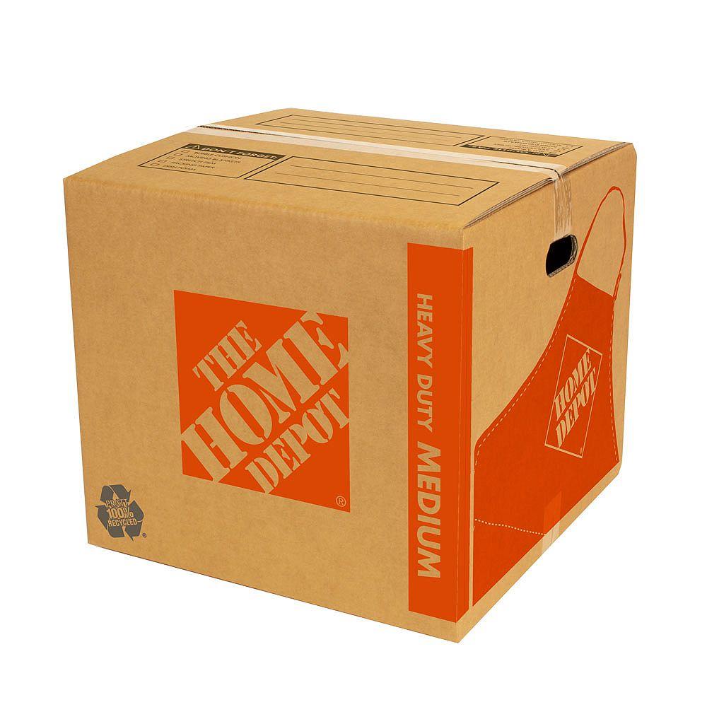 The Home Depot 18 inch L x 18 inch W x 16 inch D Heavy Duty Medium Moving Box