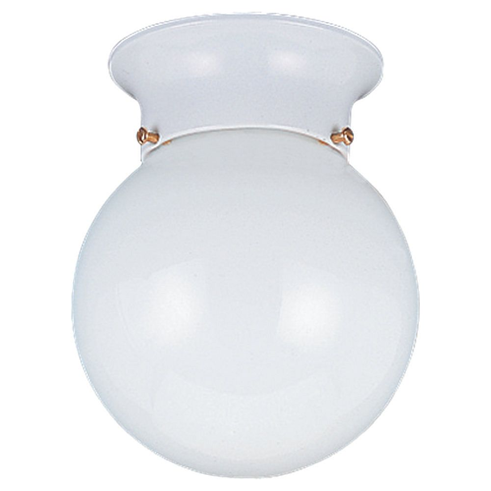 Sea Gull Lighting 1 Light White Fluorescent Ceiling Fixture