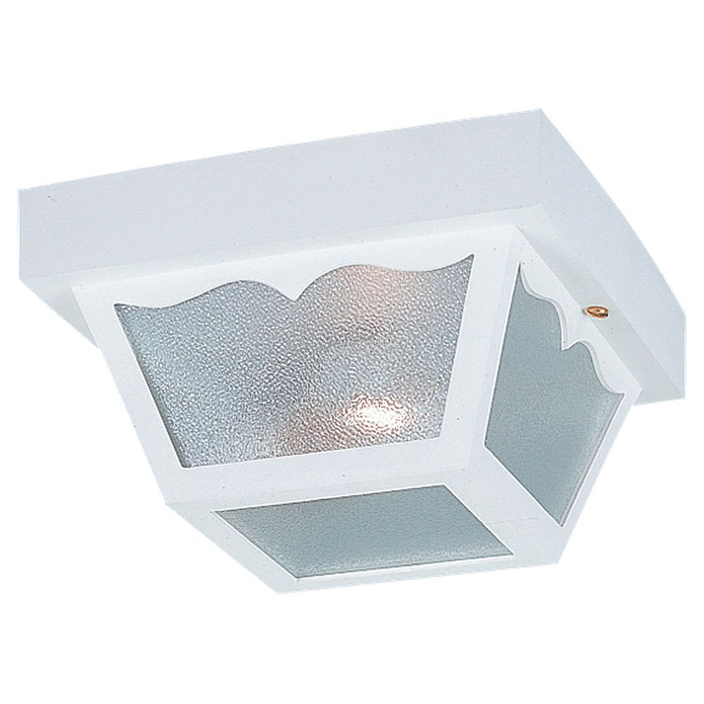 Sea Gull Lighting 1-Light White Outdoor Ceiling Fixture