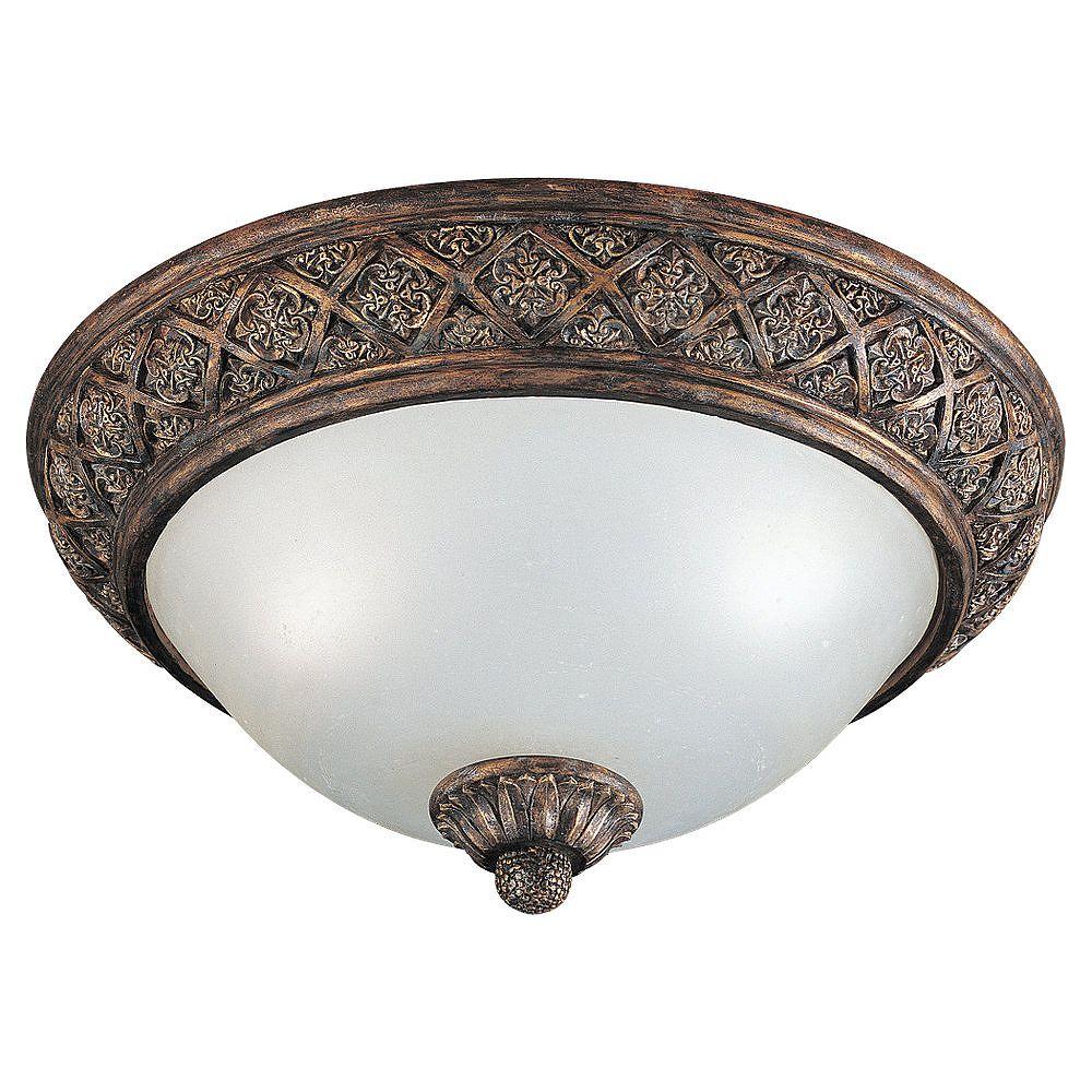 Sea Gull Lighting 2-Light Regal Bronze Ceiling Fixture