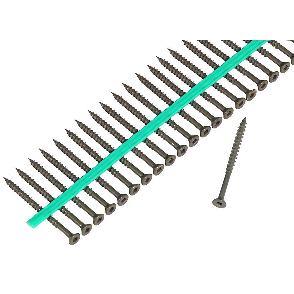 Muro Auto Feed 8 x 2 -inch Green Shieldguard Coated Flat-Head Square Drive Deck Screws (1800-Pack)