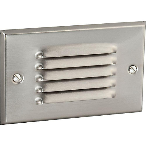 Progress LED Brushed Nickel Horizontal, Louvered Step Light