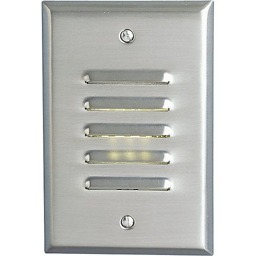Progress LED Brushed Nickel Vertical, Louvered Step Light