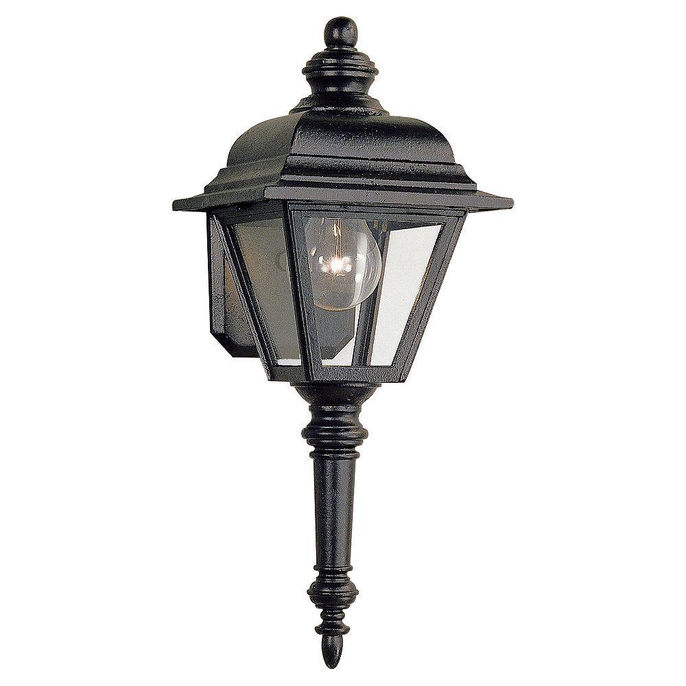 Sea Gull Lighting 1 Light Black Incandescent Outdoor Wall Lantern The Home Depot Canada
