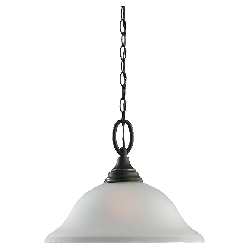 Sea Gull Lighting 1 Lumière Heirloom Bronze Pendentif Fluorescent