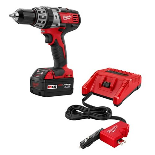 1/2-inch M18 Lithium-Ion AC/DC Hammer Drill/Driver Kit