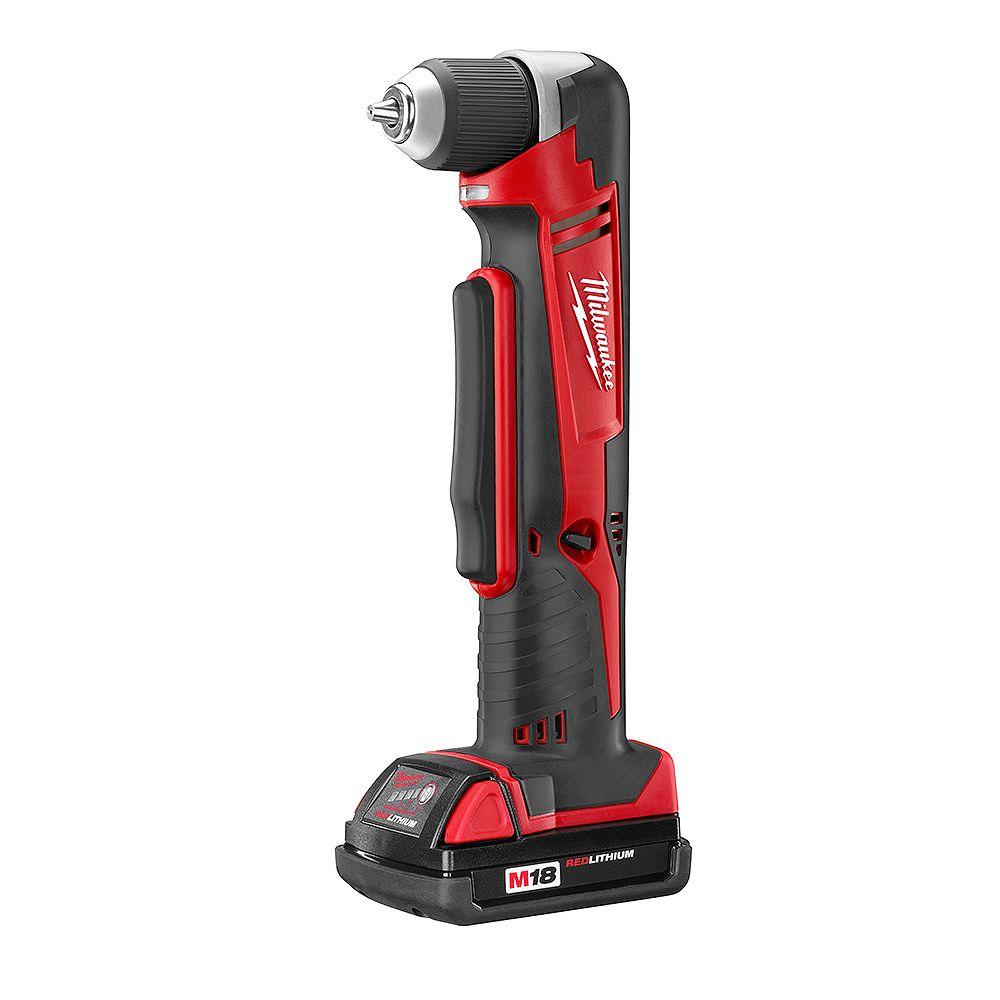 Milwaukee Tool Perceuse sans fil à angle droit M18 à batterie au lithium-ion
