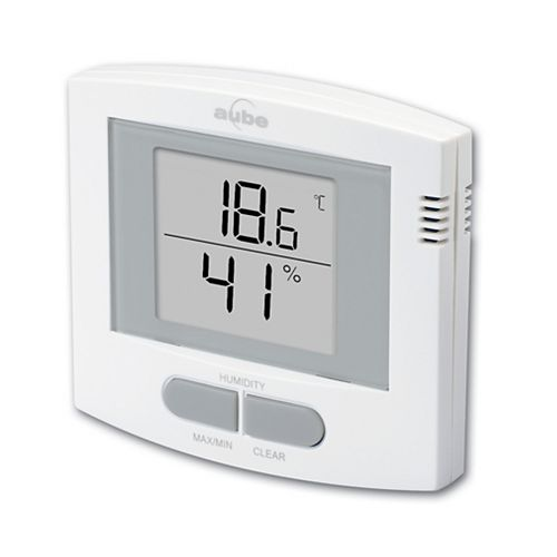 INDOOR TEMP&HUMIDiTY THERMOMETER - White