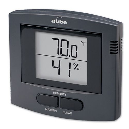 INDOOR TEMP&HUMIDiTY THERMOMETER - Black
