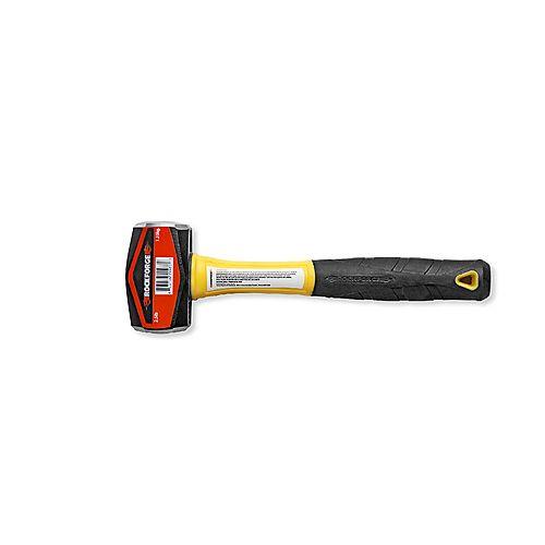 Club Hammer with Fiberglass Handle - 2.5 lb